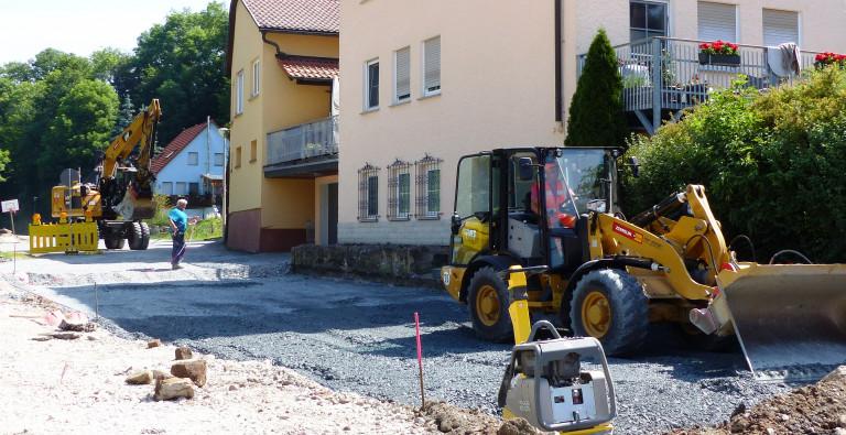 Mit fünf Wochen Verpätung Bauarbeiten haben begonnen