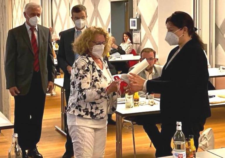 Ehrung für Stadträtin Marina Schmitt
